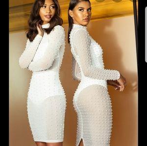 Luxury embellished studded dress
